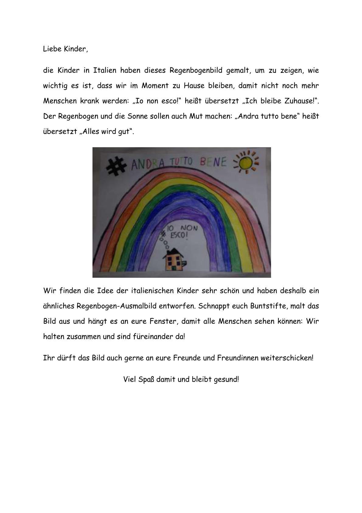 Wir Malen Einen Regenbogen Hardtschule Ebersbach Grundschule