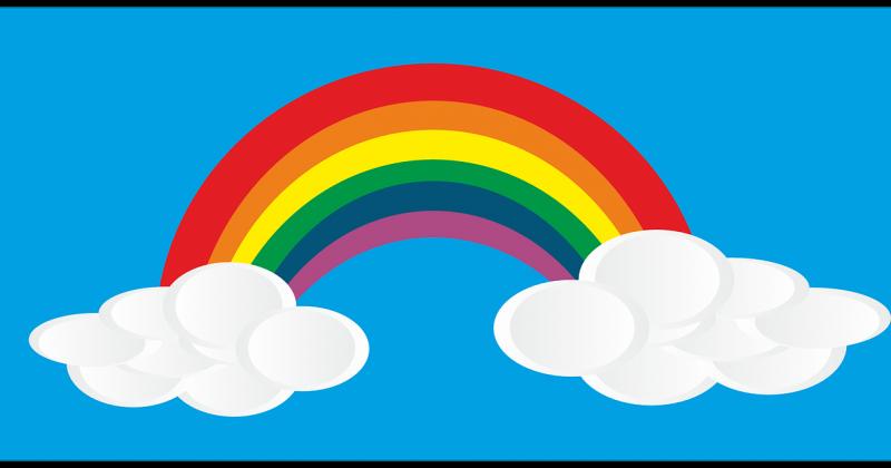 Wir malen einen Regenbogen